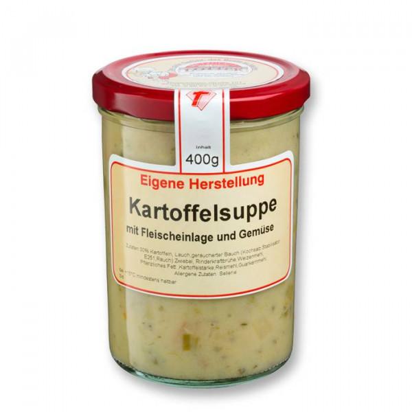 Kartoffelsuppe im Glas