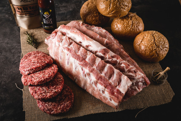 Classic Oberpfalz-Beef Baby Back Ribs & Burger Paket
