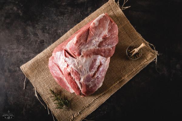 Dicke Schulter ohne Schwarte für Pulled Pork