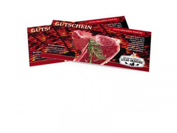 """Gutschein Grillworkshop """"Geheime und unbekannte Steakzuschnitte vom Oberpfälzer Landschwein"""""""