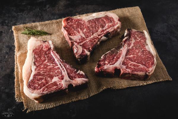 Triple T-Bone Steak Dry Aged Paket vom Oberpfalz-Rind